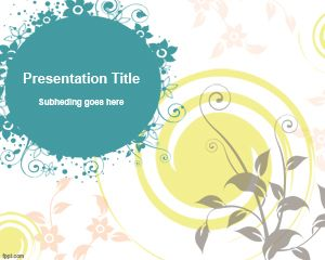 Simple PowerPoint Template with Flowers
