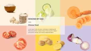 Colorful fashion small fresh food theme ppt template