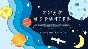 Cartoon space theme PPT template