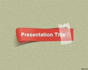 Red Strip PowerPoint Template
