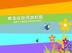 Colorful Vibrant Color Animals And Plants Cartoon Anime Ppt Template Powerpoint Templates Free Download