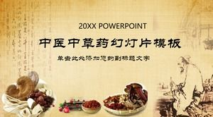 PPT template of traditional Chinese medicine in classical ink style