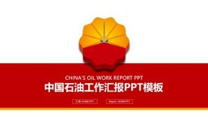 Red simple CNPC work report PPT template