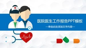 Cartoon Doctor Nurse Background Hospital Work Summary PPT Template  PowerPoint Templates Free Download