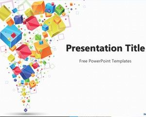 Free 3D Cubes PowerPoint Template