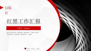 Red And Black Practical Work Report Ppt Template Powerpoint Templates Free Download