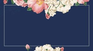 Five vintage literary and floral PPT border background pictures
