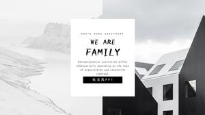 Simple and elegant atmosphere extreme simple flat European style ppt template