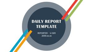 4-color flat fresh and simple business work report ppt template