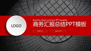Black and red color flat business work summary and next year work plan ppt template