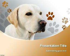 Szablon Labrador Retriever Dog PowerPoint