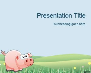 Pig Modello di PowerPoint
