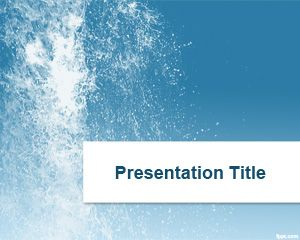 Modello Splash Water PowerPoint