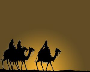 Tiga Wise Men Template PowerPoint