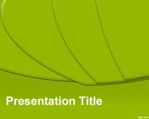 Template hijau Slices PowerPoint