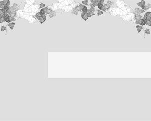 Gray Winter Leaves Template for PowerPoint