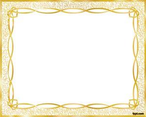 Золото Шаблон рамы PowerPoint шаблоны Скачать