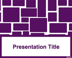 Rounded Squares PowerPoint Template