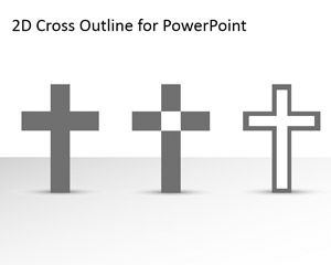 Free Cross Outline for PowerPoint