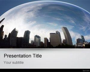 City Fisheye PowerPoint Template