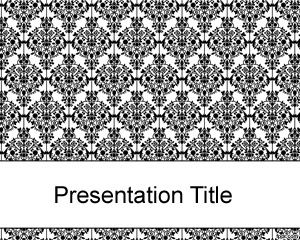 Old black fashioned PowerPoint template