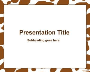Brown ha visto cornice Modello di PowerPoint