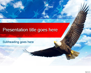 Free United States Bald Eagle PowerPoint Template
