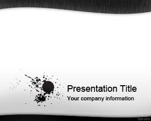 ブラックインクpowerpointのテンプレート powerpointテンプレート無料