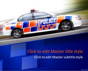 Police Car Ppt Template Powerpoint Templates Free Download