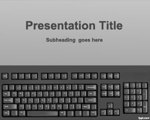 Keyboard Typing PowerPoint Template