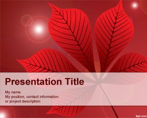 Red Leaf PowerPoint Template