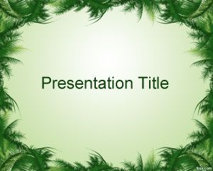 Leaves Frame PowerPoint Template