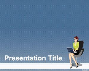 ワークpowerpointのテンプレートでの女性 powerpointテンプレート無料