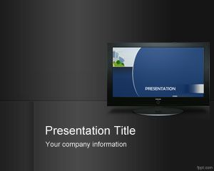 Indoor Digital Signage PowerPoint Template