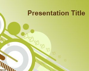 Going green Powerpoint-Vorlage