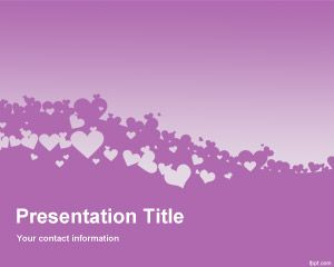 Violet Love PowerPoint Template