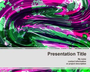 Template cores pastel PowerPoint