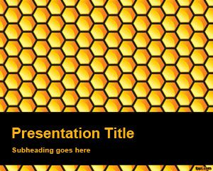 Honeycomb PowerPoint Background Texture