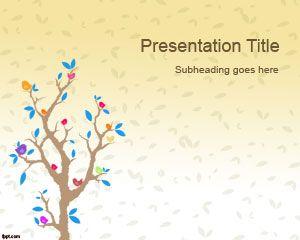 Cartoon Tree PowerPoint Template