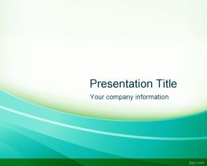 Template Radiant PowerPoint Verde