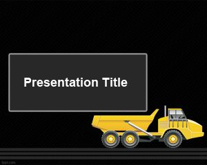 Articulated Truck PowerPoint Template