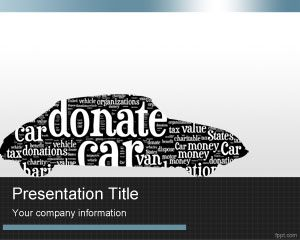 Donate Car PowerPoint Template