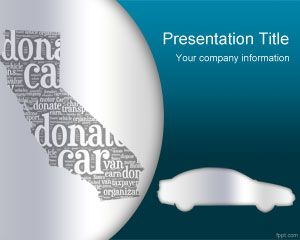 Donate Car California PowerPoint Template