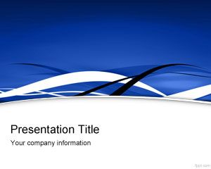 Blue Fringe PowerPoint Template