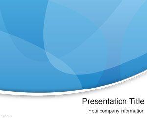 Free Blue Modern PowerPoint Template