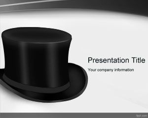 top black hat powerpoint template powerpoint templates free download