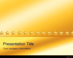 Gold Stars PowerPoint Template