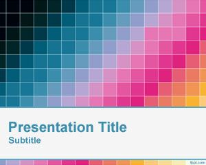 Diagonal Pixel Template Warna PowerPoint