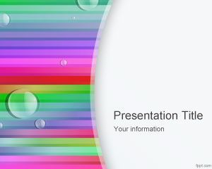 Rainbow Lines PowerPoint Template