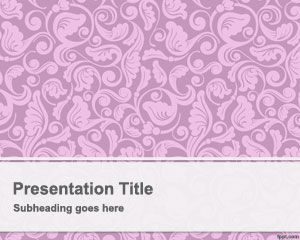 Pink Vintage PowerPoint Template